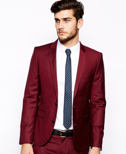 Gwenhwyfar 2018 Autumn New 6 Buttons Groom Bridegroom Wedding Party Tuxedos Bright Red Fashion Men Suits