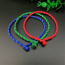 Hot 1PC 3 Colors Classic Couple Bracelet Friends Lover Gift Red Blue Green Rope Lucky Bracelets