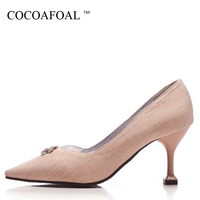 COCOAFOAL Woman Sexy High Heels Shoes Plus Size 32 48 Pointed Toe Pink Wedding Pumps Gray