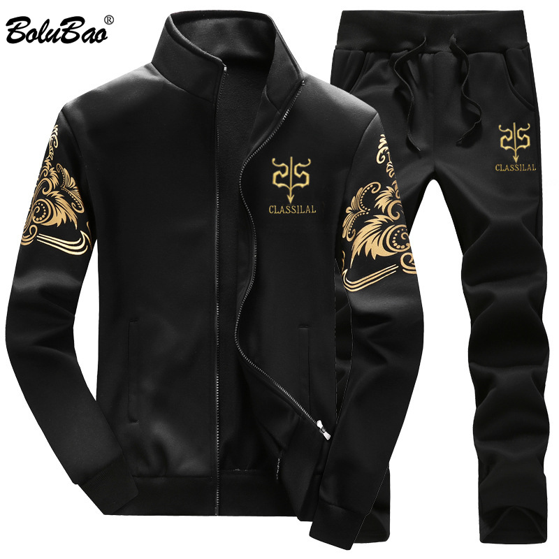 BOLUBAO Men Set Casual Sportswear Tracksuits Sets Gyms Sweatshirt + Sweatpants Sets Fashion Brand Male Two Piece Sets