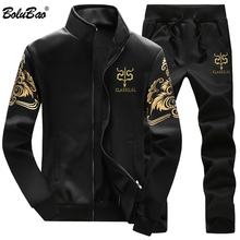 BOLUBAO zestaw dla mężczyzn odzież sportowa dresy zestawy siłownie bluza + spodnie dresowe zestawy moda marka męskie zestawy dwuczęściowe tanie tanio CN (pochodzenie) MANDARIN COLLAR Zipper fly Poliester Pełna Na co dzień 98-106 Polyester PATTERN Drukuj