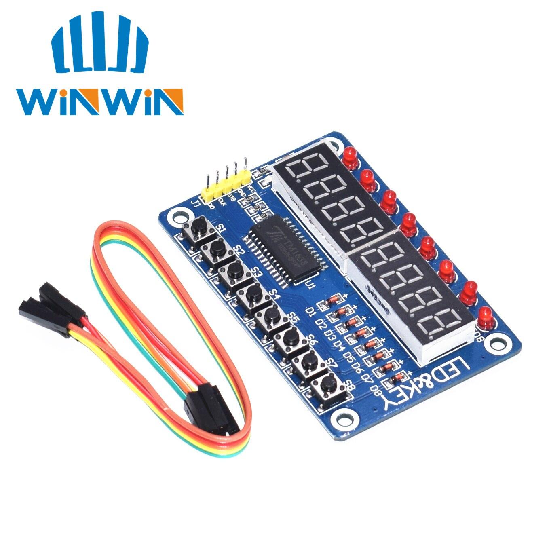 D82 1pcs Key Display For AVR New 8-Bit Digital LED Tube 8-Bit TM1638 Module(China)