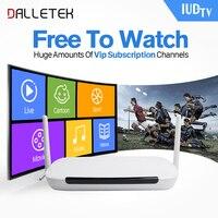 Dalletektv Android TV Box HD Streaming Box Quad Core 1 GB 8 GB ROM con IUDTV Arabo IPTV Box Europa REGNO UNITO Abbonamento IPTV PK H96