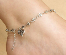 1PC Hot Charm Hand made Tibetan silver Tone Daisy chain flower anklet ankle bracelet summer beach