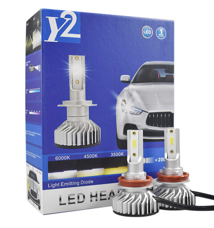 All In One H4 H13 9004 9007 Car LED Headlight With New Upgrade Mini Canbus COB Chip H1 H3 H4 H7 H11 9005 9006 LED Headlamp Bulbs