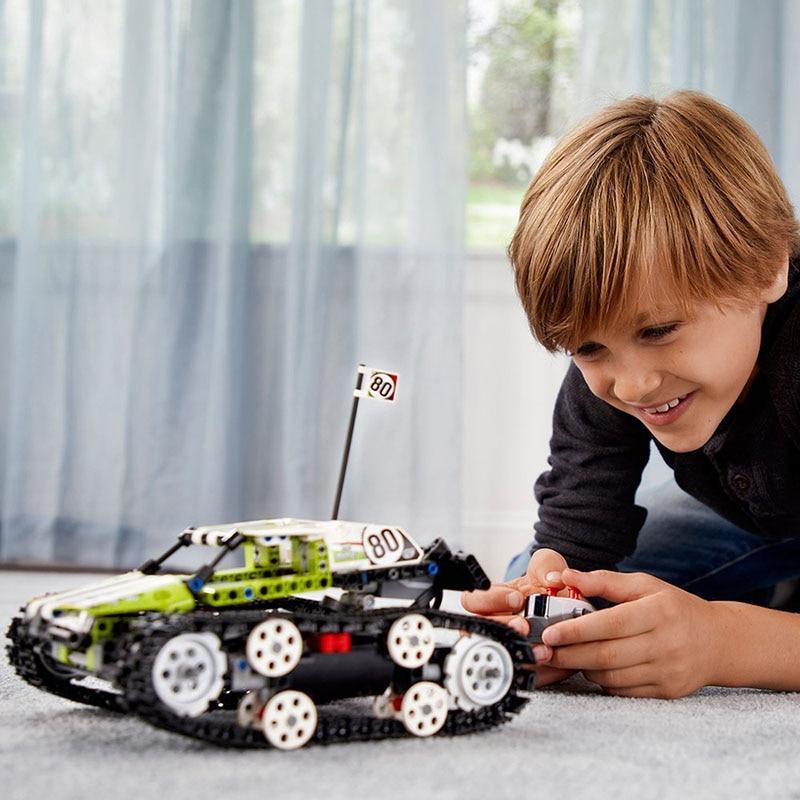 397 piezas técnica de la serie RC pista carrera coche Compatible con Legoings control remoto de bloques de construcción ladrillos Juguetes