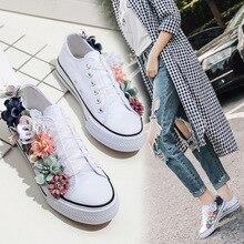c5d1a015a 2018 estação Europeu da primavera e verão de moda de nova flor artesanal de  rendas sapatos rodada plana baixa ajuda sapatas das .