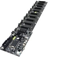 CPU LGA 1151 BLACK Mainboard Motherboard Intel B250 BTC DDR3 Sockets 12 x PCI E X16 Card SATA3.0 BTC Motherboard
