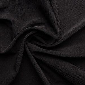 Image 5 - Womens Plus Size Elegante Lange Mouwen Bloemen Kant Zwart T Shirt Vrouwen Dames Tee Shirts 6XL 7XL 8XL H009