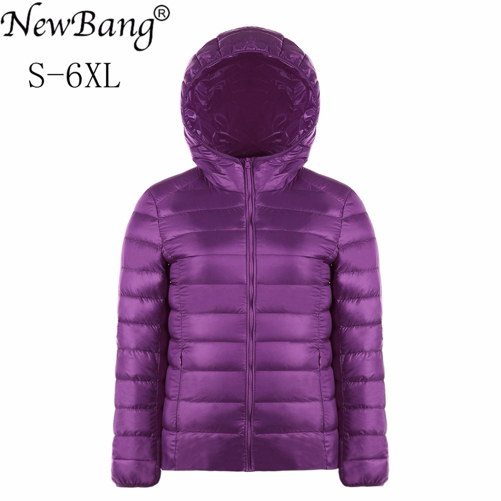 NewBang Brand Plus Size 5XL 6XL Women's   Down     Coat   Ultra Light   Down   Jacket Women Lightweight Portable WindBreaker Feather Outwear