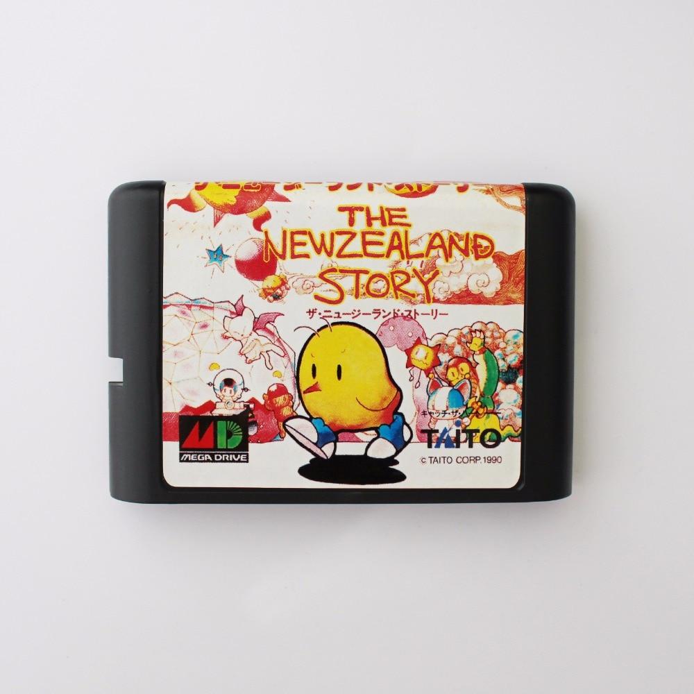 Newzealand Story 16 bit MD Game Card For 16 bit Sega MegaDrive Genesis game console