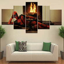 B-man vs S-man and Deadpool modern Wall posters Canvas Art painting 5 Panel HD Print For home living room decoration