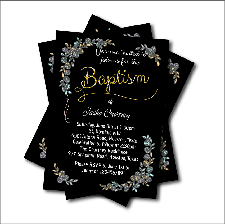 Us 5 3 41 Off 14 Pcs Lot Vintage Baptism Invitation Baby Shower Birthday Invites Boys Christening First Holy Communion Party Decoration Supply In