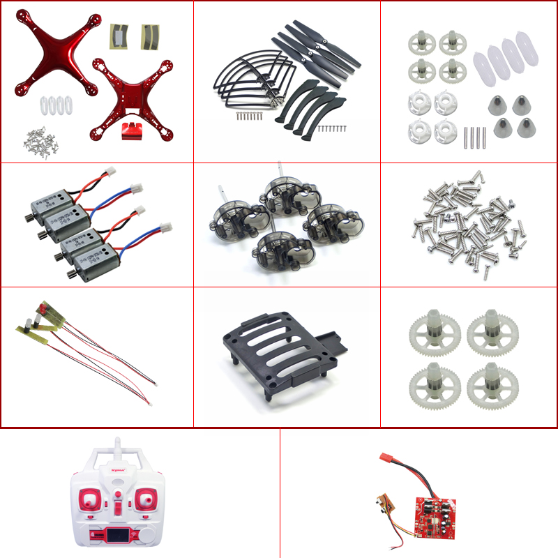 SYMA X8C X8W X8G X8HC X8HW X8HG RC Drone Quadcopter Spare Parts Shell Cover Motor Propeller Engine Blades Wind Landing Gear etc.