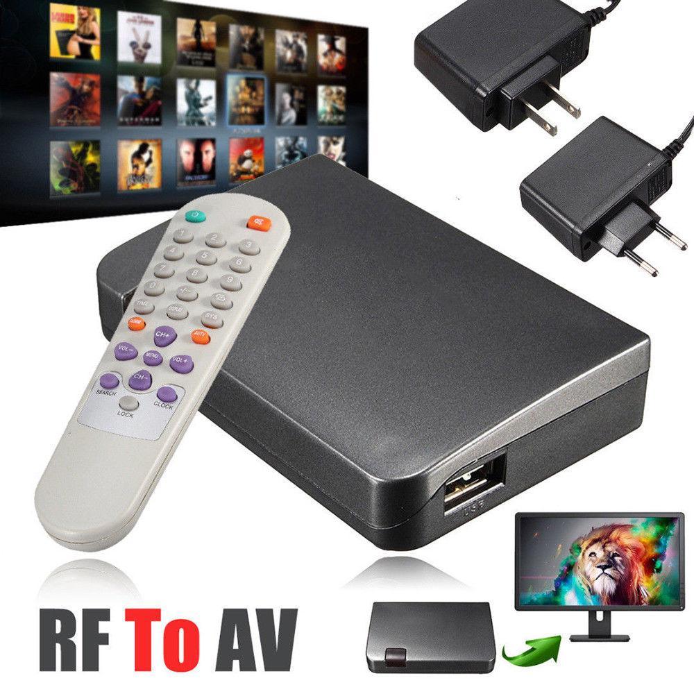 RF To AV Analog TV Receiver Converter Modulator Power Adapter USB With Video