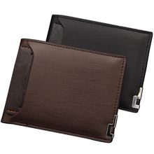 New Mens Ultrathin Slim Wallets Short Coin Purse Small Fashion High Quality Designer ID Plug-in Credit Card Holder Purse Wallet fashion new solid color stripes men wallets leisure cross vertical 3 fold brown id credit card holder purse wallet 04