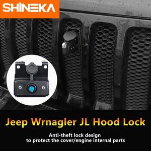 Image 3 - SHINEKA Kit de captura capucha de bloqueo inteligente, parrillas de carreras, conjunto de seguridad antirrobo, conjunto de bloqueo 2018 para Jeep Wrangler jl, accesorios