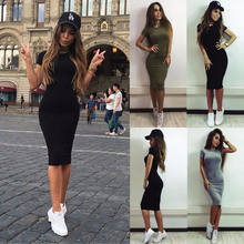 UK SEXY WOMENS BANDAGE BODYCON COCKTAIL LADIES MIDI PARTY DRESS SIZE 6 - 14(China)