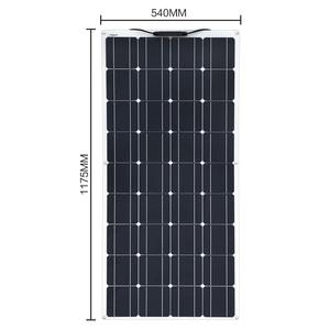 Image 2 - 2 個 4 個 3 個ソーラーパネル 100 ワット単結晶太陽電池のための柔軟な車/ヨット/汽船 12V 24 ボルト 100 ワット太陽電池