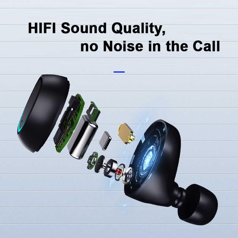TWS 5.0 Bluetooth słuchawki zestaw słuchawkowy Bluetooth 5.0 zestaw słuchawkowy IPX57Waterproof Mini bezprzewodowe douszne bezprzewodowe słuchawki z mikrofonem YZ259