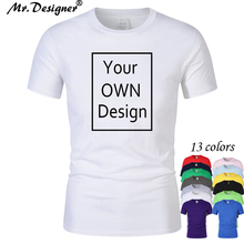 2addb1432 Your OWN Design Brand Logo/Picture Custom Men and women DIY Cotton T shirt  Short · 14 Colors Available