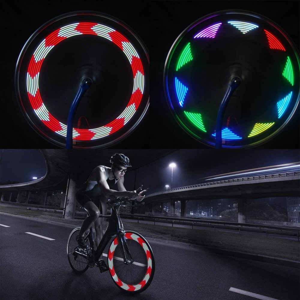 2018 14LED Cool 30 Change Pattern Bike Bicycle Wheel Tire Tyre Spoke Light USB Rechargeable Cycling Accessories Drop Shipping