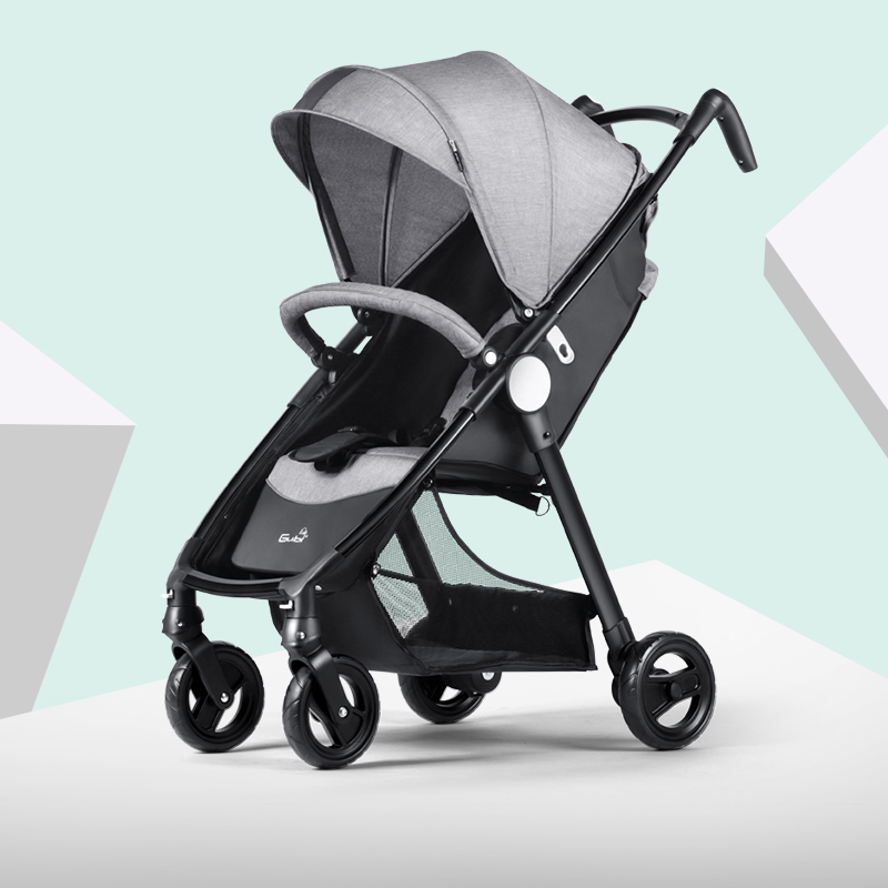 Bébé poussette en alliage d'aluminium portant 15kg peut s'asseoir et mentir Super Mini pliant Portable bébé landau pour poupées