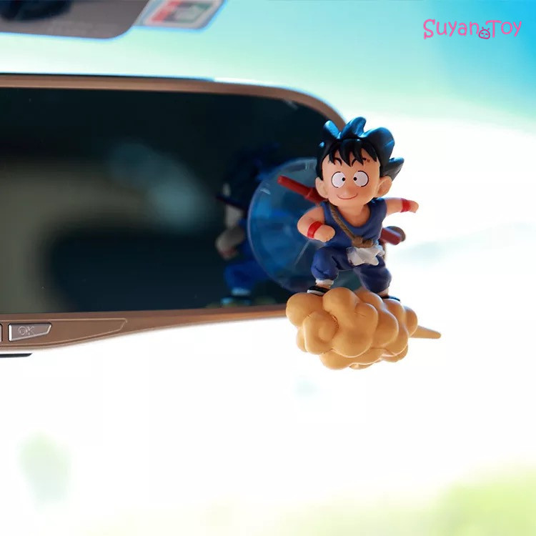 Dragon Ball Japanese Anime Son Goku Krillin Car Decoration Doll Action Anime Figure Collections Gifts Toy Tao Pai Pai With Mount