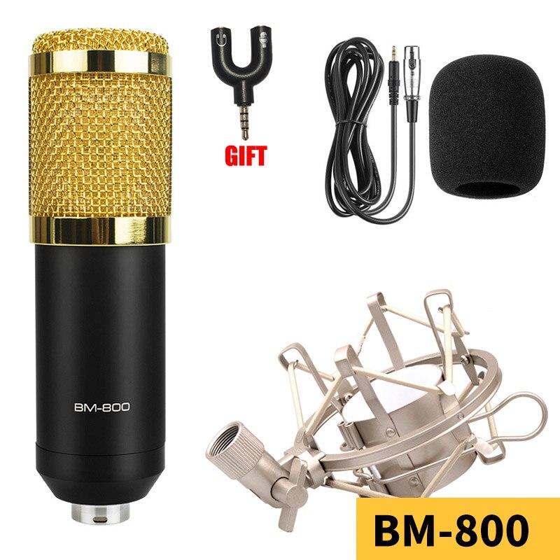 Profession BM800 computer microphone condenser Studio metal Shockproof Bracket Mic with mount studio recording Broadcasting LIVE