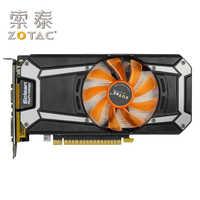 Carte graphique ZOTAC GeForce GTX750Ti-2GD5 tonnerre PA/PB/PC 128Bit GBDR5 cartes graphiques GTX750Ti GTX 750Ti 2GB Hdmi Dvi VGA utilisé