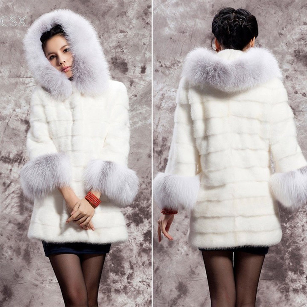 Alishebuy 2016 Winter Women's Jackets Warm Thick Fox Fur Coat ...