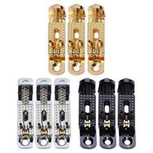 3 unids metal rodillo trémolo puente Sillas de montar para Fender eléctrica Guitarras Instrumentos musicales Guitarras piezas oro plata negro 3 colores
