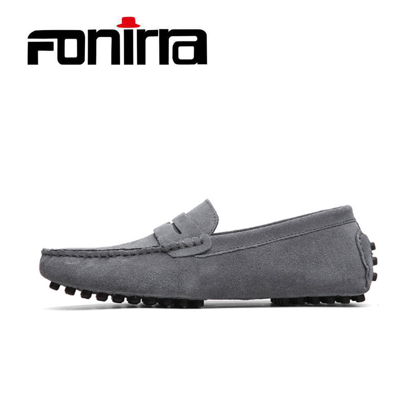 2017  Men Wome Loafers Couple Casual Shoes 14 Colors Men Flats Shoes Genuine Leather Chaussure Homme Moccasin Slip On Flats 053 genuine leather men casual shoes summer loafers breathable soft driving men s handmade chaussure homme net surface party loafers