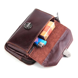Image 5 - New Genuine Leather Cell Phone Pouch Belt Clip Bag for Samsung Galaxy S8 /S8 Plus/Note 8 Waist Bag Outdoor Phone Case for iPhone