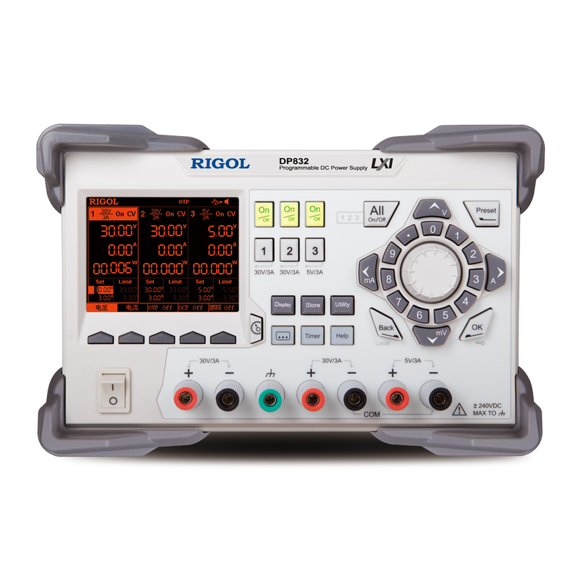 RIGOL DP832 Programmable Linear DC Power Supply 3 Channels 3 5 inch TFT Display