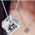 Rubik's cube Necklace Pendant, High quality, 925 Sterling Silver Pendants , Wholesale Fashion Jewelry For women RJ132