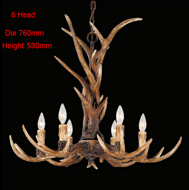 Europe country 6 head candle antler chandelier american retro resin europe country 6 head candle antler chandelier american retro resin deer horn lamps home decoration lighting mozeypictures Images