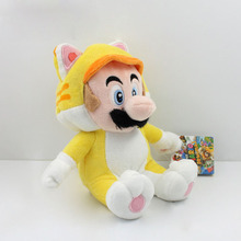 Super Mario 3D World Plush Toy Doll 9 Neko Cat Mario Luigi Peach Mushroom Retail Free