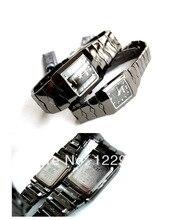 De moda los amantes de cuarzo relojes, color de acero de tungsteno relojes de alta calidad, a prueba de agua 30 m, fuentes de cristal de alta calidad