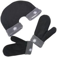 1 Set Romantic Sweethearts Lovers Gloves Women Men Winter Thickening Warm Polar