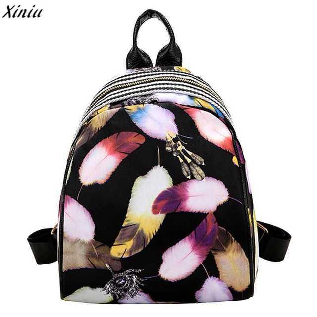 2018 Women Girls Backpack Cute Floral Printed Nylon Backpacks Travel  Rucksack Schoolbag for Kids Daypack mochila feminina 62068b62109a4