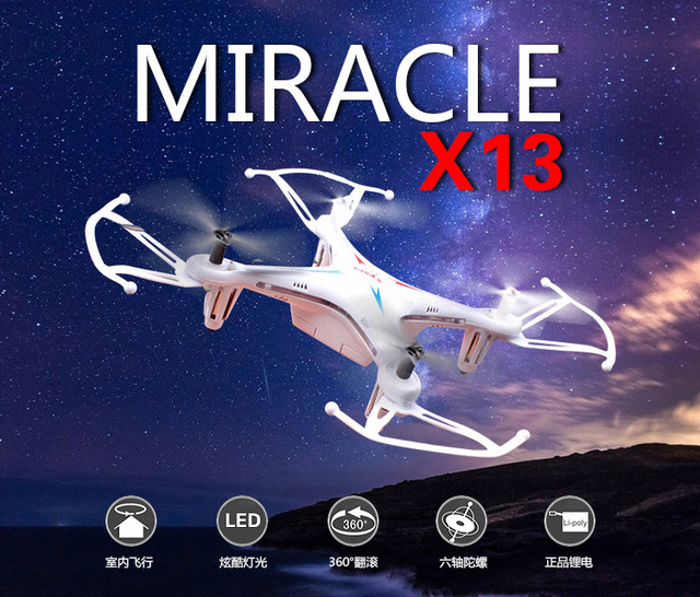 2016 Syma X13 MILAGRE GYRO 2.4G 4CH 6-Axis Mini RC Helicopter & Quadcopter Quad Copter RTF
