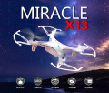 2016 Syma X13 MIRACLE GYRO 2.4G 4CH 6-Axis Mini RC Helicopter & Quadcopter Quad Copter RTF