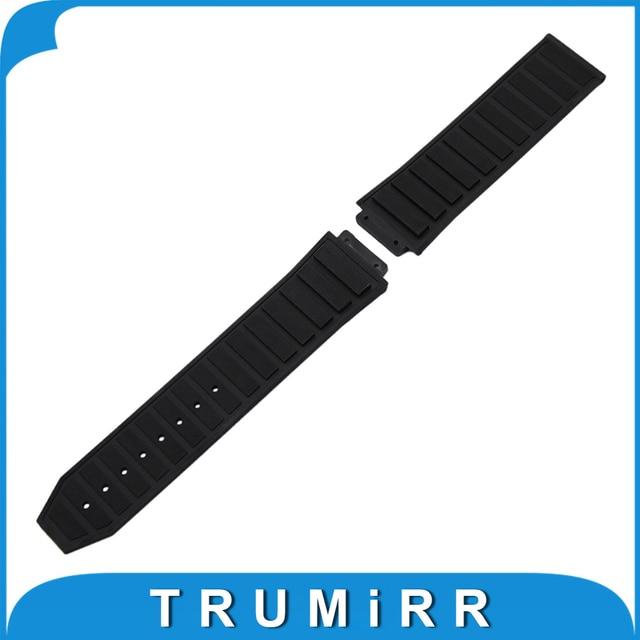 Bolle Silicone Rubber Horlogeband 26mm x 19mm voor Hublot Vervangende Horloge Band Waterdichte Band Pols