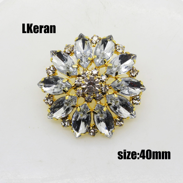 3pcs lot 40mm rhinestone crystal button gold decorative flower button coat  clothing fashionable clothing accessories. 0d96d4e1deb2