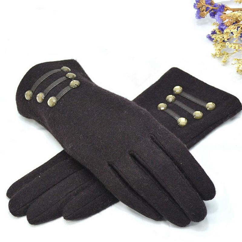 NDUCJSI Women Gloves Autumn Winter Outdoor Warm Inverted Cashmere Cotton Wrist Glove Solid Colors Screen Gloves Adult Mitten