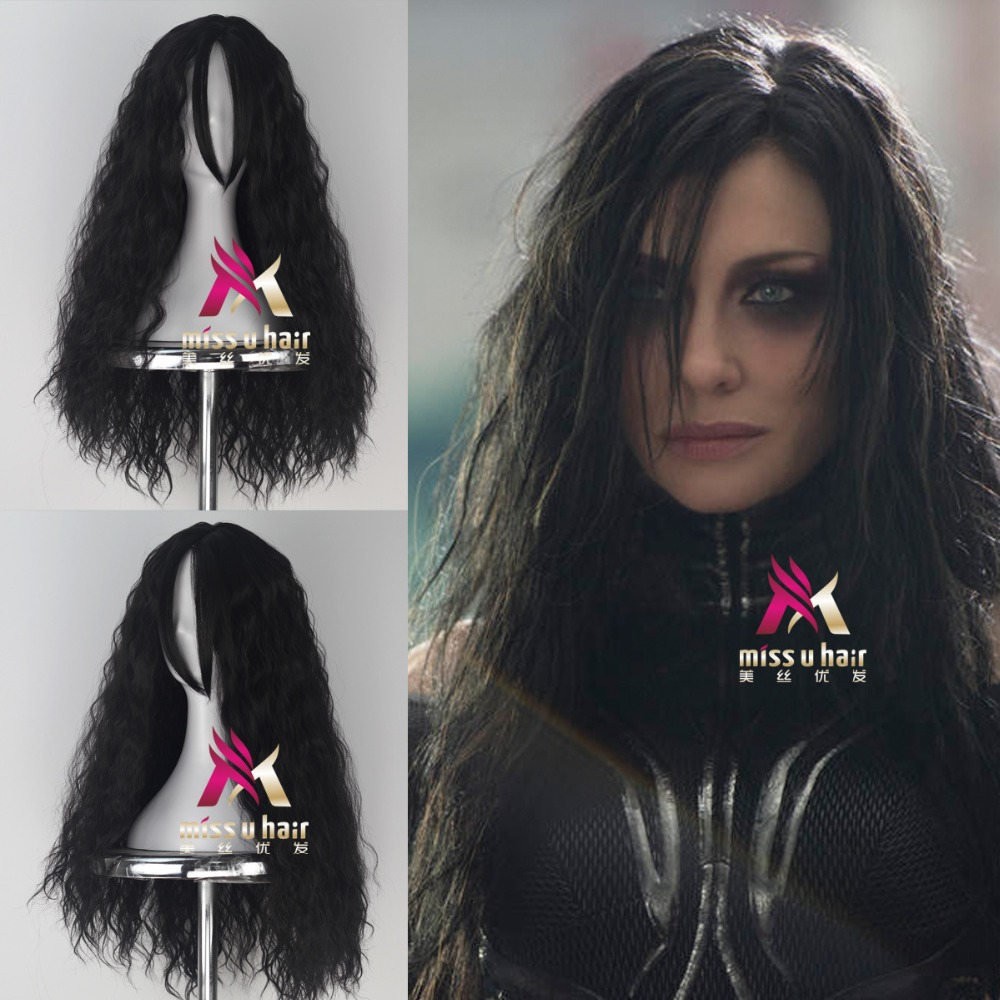 New Movie Thor Odinson Hela wig Play Hair The Avengers Comic Cosplay Marvel Halloween Costume Synthetic Refractory Fiber Wigs