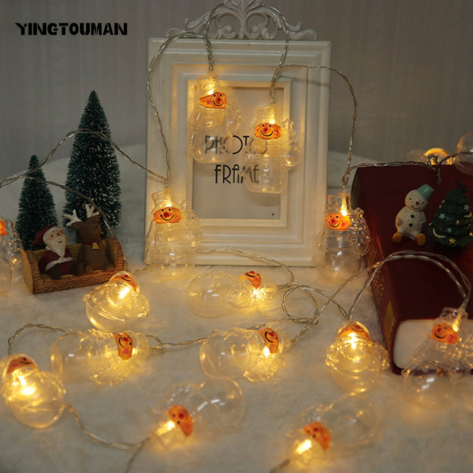 Led String Yingtouman Sliver/gold Christmas Tree Type 2.5m 20led Battery Lamp Led String Light Wedding Party Christmas Holiday Decoration