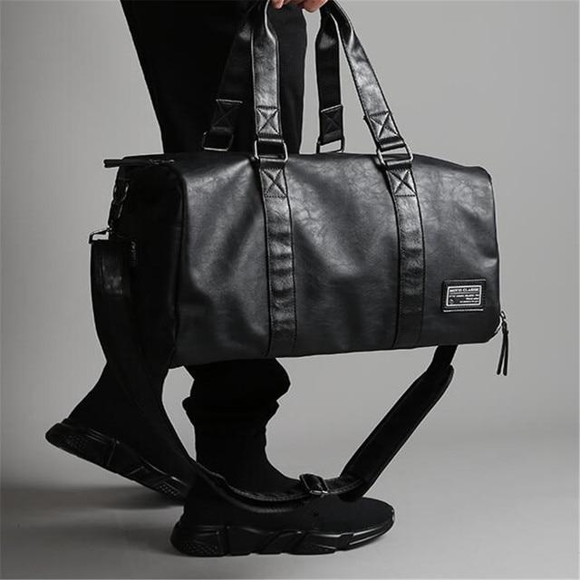 Black Waterproof PU Leather Handbags