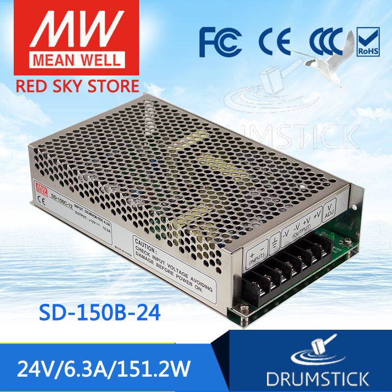 Hot sale MEAN WELL SD-150B-24 24V 6.3A meanwell SD-150 24V 151.2W Single Output DC-DC Converter selling hot mean well sd 350b 24 24v 14 6a meanwell sd 350 24v 350 4w single output dc dc converter